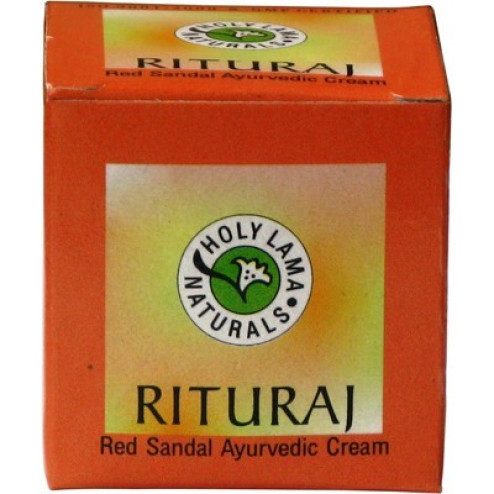 HOLY LAMA RITURAJ RED SANDAL CREAM