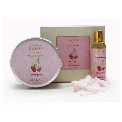 Nyassa Berry Berry Salt Body Scrub with Scrub Oil