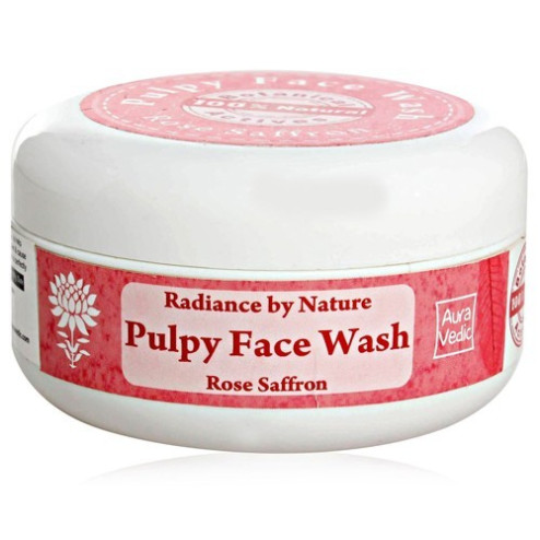 Aura Vedic Pulpy Face Wash Rose Saffron