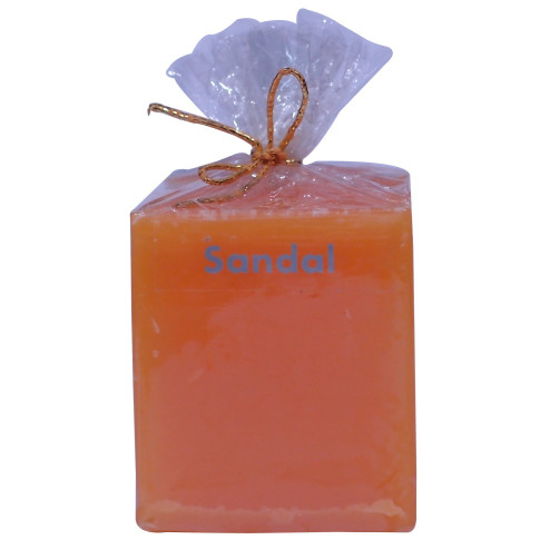 Sandal Coloured Candles Perfumed (Cube)