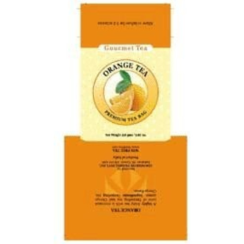 Orange Tea Bag Carton
