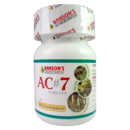 Baksons AC7 Tablets - Homeopathic Laxative
