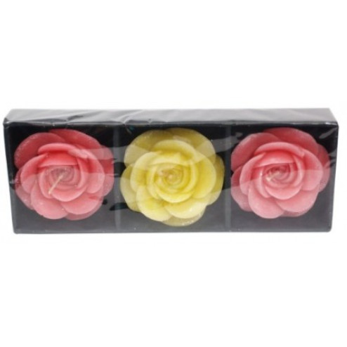 Rose Floating Candles Gift Pack - 3 in 1