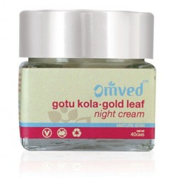 Omved Gotu Kola Gold Leaf Night Cream