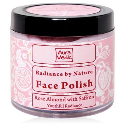 Aura Vedic Rose Almond with Saffron Face Polish