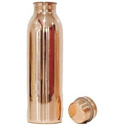 Copper Water Bottle (950ml) with Ayurvedic Health Benefits - 100% Pure Copper Vessel - Matte Finish