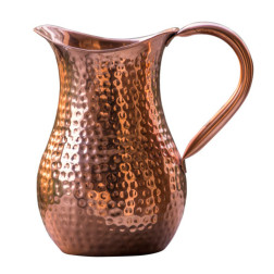 Copper Water Jug For Ayurvedic Healing | 100% Pure Copper Handcrafted Hammered Pitcher Premium Water Dispenser