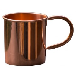 Pure Copper Mug | 100% Solid Copper Cup Perfect for Russian Moscow Mules, Cocktail and Cold Drinks | Unlined Handcrafted Copper Mug, No nickel or stainless steel, Pure Food Grade Copper