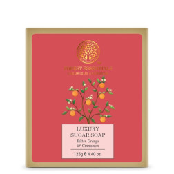 Forest Essentials Luxury Sugar Soap Bitter Orange & Cinnamon
