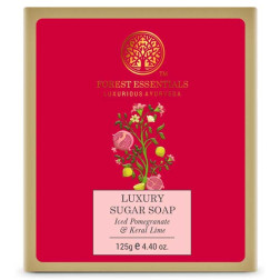 Forest Essentials Luxury Sugar Soap Iced Pomegranate & Kerala Lime