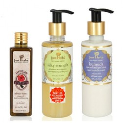 Just Herbs Ayurvedic Haircare Trio (Normal/Dry Hair)