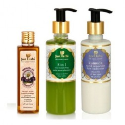 Just Herbs Ayurvedic Haircare Trio (Normal/Oily Hair)