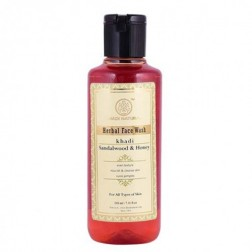Khadi Herbal Face & Body Wash Sandalwood & Honey