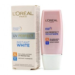 L'Oreal Paris UV Perfect Instant White Protect Long-Lasting to 12hrs SPF 50+ UVB, UVA Pa++++