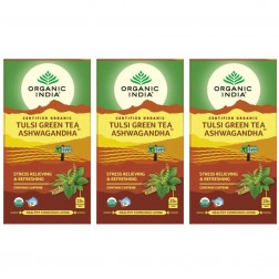 Organic India Tulsi Green Tea Ashwagandha