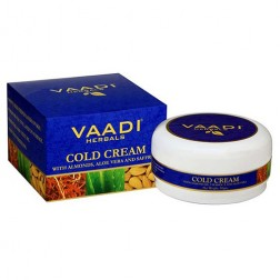 Vaadi Herbals Cold Cream with Almond Oil, Aloe Vera & Saffron (90 g)