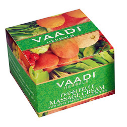 Vaadi Herbals Fresh Fruit Massage Cream with Apple, Papaya & Kokum Butter