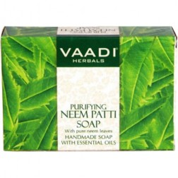 Vaadi Herbals Purifying Neem Patti Soaps with Pure Neem Leaves