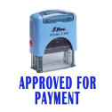 APPROVED FOR PAYMENT Office Stationary Shiny Stamp Self Inking Rubber Stamp - Blue
