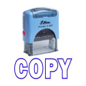 COPY Self Inking Rubber Stamp Custom Shiny Office Stationary Stamp - Violet