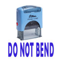 DO NOT BEND Self Inking Rubber Stamp Custom Shiny Office Stationary Stamp - Blue